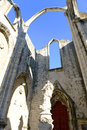 Igreja do carmo lisbon portugal is the ruin of earthquake now this historical building is an archaeological museum Stock Photo
