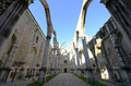 Igreja do carmo lisbon portugal is the ruin of earthquake now this historical building is an archaeological museum Royalty Free Stock Photo