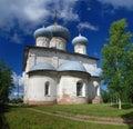 Igreja ortodoxa velha em Belozersk Fotos de Stock Royalty Free