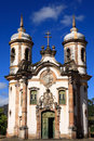 Igreja sao francisco de assis church of ouro preto brazil view the the unesco world heritage city in minas gerais Royalty Free Stock Photos
