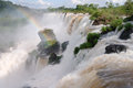 Iguacu falls argentina brazil closeup Stock Photo