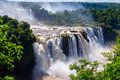 Iguacu falls brazil iguassu is the largest series of waterfalls on the planet located in argentina and paraguay Royalty Free Stock Photography