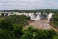 Iguacu falls seen brazilian side Royalty Free Stock Photo