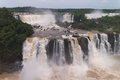 Iguacu falls seen brazilian side Stock Images