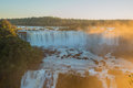 Iguacu waterfalls great view from brazil side Stock Photo