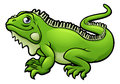 Iguana Lizard Cartoon Character Royalty Free Stock Photo