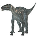 Iguanodon herbivore dinosaur was a herbivorous that lived in europe during the cretaceous period Stock Photography