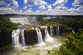 Iguassu Falls is the largest series of waterfalls on the planet Royalty Free Stock Photo