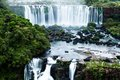 Iguassu falls the largest series of waterfalls of the world located at the brazilian and argentinian border view from brazilian Stock Photography