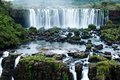 Iguassu falls the largest series of waterfalls of the world located at the brazilian and argentinian border view from brazilian Stock Image