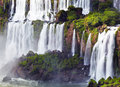 Iguassu falls view from argentinian side the largest series of waterfalls of the world located at the brazilian and border Stock Photography