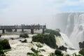 Iguassu waterfall Garganta del Diablo view point Royalty Free Stock Photo