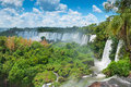 Iguassu waterfalls argentina brazil bordering Stock Photography