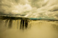 Iguazu falls as seen from argentina side Stock Image