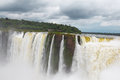 Iguazu falls as seen from argentina side Royalty Free Stock Photos