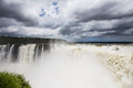 Iguazu falls as seen from argentina side Stock Photos