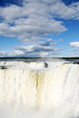 Iguazu falls with beautifull sky and clouths Stock Photography