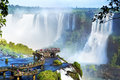 Iguazu Falls, on the border of Argentina and Brazil Royalty Free Stock Photo