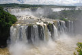 Iguazu falls in brazil huge multi tiered waterfall at iguacu national park Stock Photos