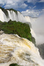 Iguazu falls in brazil huge waterfall at iguacu national park Stock Photography