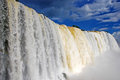Iguazu falls in brazil huge waterfall at iguacu national park Stock Photo