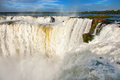 Iguazu falls view from the argentinian side one of new seven wonders of nature unesco world heritage site Stock Photo