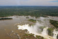 Iguazu waterfalls the most famous in the world devil s throat was photographed from a helicopter Royalty Free Stock Photo