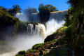 Iguazu waterfalls one of the famous in the world Royalty Free Stock Image