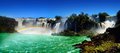Iguazu waterfalls one of the famous in the world Royalty Free Stock Images
