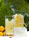 Ijskoude Limonade met Munt Royalty-vrije Stock Afbeeldingen