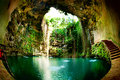 Ik-Kil Cenote Royalty Free Stock Photo