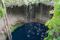 Ik kil cenote mexico cave Royalty Free Stock Photo