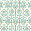 Ikat damask pattern in pastel colors seamless ornamental background Stock Photo