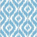 Ikat damask seamless ogee background pattern Stock Images