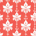 Ikat damask seamless pattern in red and white Royalty Free Stock Photos
