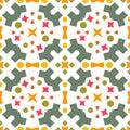 Ikat geometric folklore ornament. Seamless striped pattern