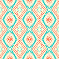 Ikat pattern abstract vector seamless with lines similar to s and s wallpapers design vintage texture for web print fall summer Stock Photo