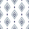 Ikat seamless pattern
