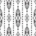 Ikat seamless pattern. Vector wallpaper background