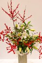 Ikebana Japanese art of flower arrangement Royalty Free Stock Photo
