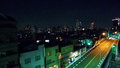 Ikebukuro city scape a night time shot of the tokyo japan from my old apartment balcony Stock Photos