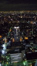 Ikebukuro city scape a night time shot of the tokyo japan from on top of a building Stock Photos