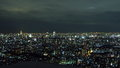 Ikebukuro city scape and tokyo tower a night time shot of the japan from on top of a building with a view of the in the distance Stock Photo