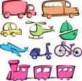 Ikon transportu pojazdy Zdjęcia Royalty Free