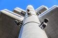 žižkov tower tv prague with david cerny baby sculptures Stock Photography