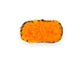 Ikura salmon roe gunkan maki sushi gunka on white blackground Stock Photos