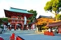 Ikuta shrine of kobe in japan Royalty Free Stock Image