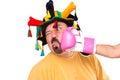 Il clown ottiene fracassato Fotografie Stock Libere da Diritti