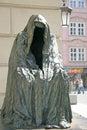 Il commandatore or cloak of conscience sculptor anna chromy at estates theatre in prague czech republic april Stock Photography