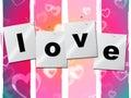Il cuore di amore rappresenta valentine day and boyfriend Fotografia Stock Libera da Diritti